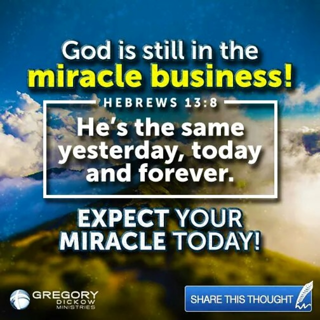 GOD HAS NOT FORGOTTEN YOU HE IS STILL IN THE MIRACLE WORKING
